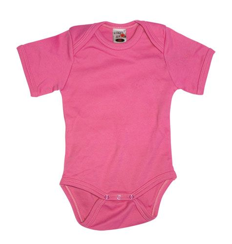 Shortsleeve Romper Girls Pink