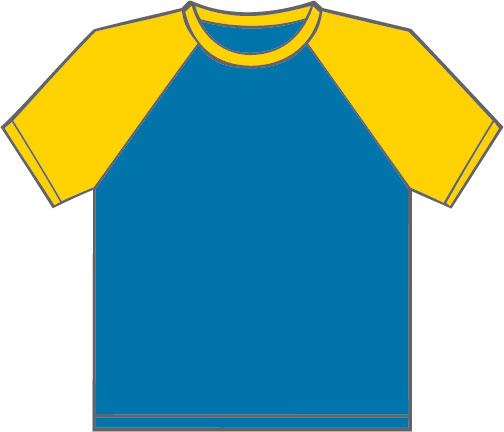 K330 Royal Blue - Yellow