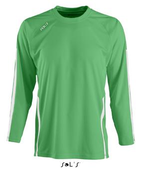 Sols Wembley Kids LSL Bright Green - White