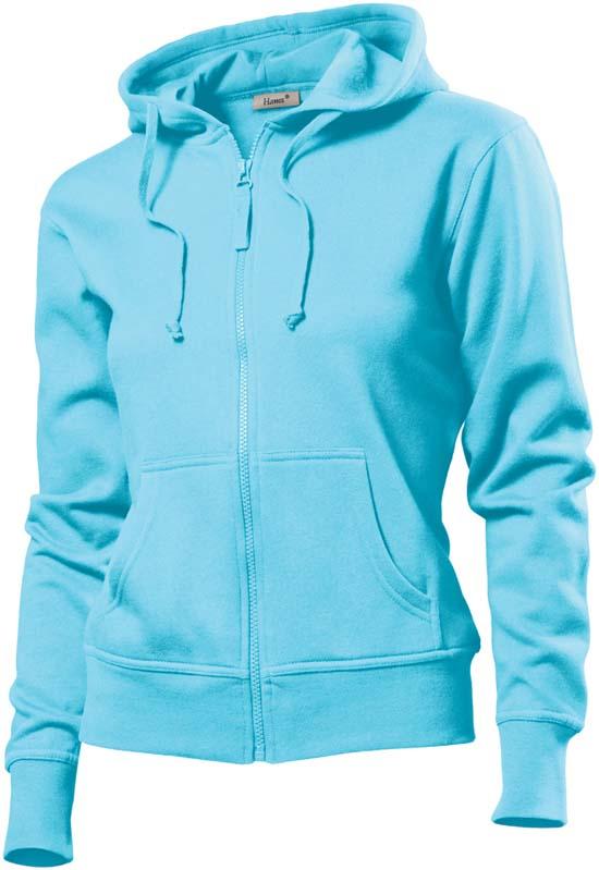 Hanes Spicy dames hoodie 6510 Sky Blue