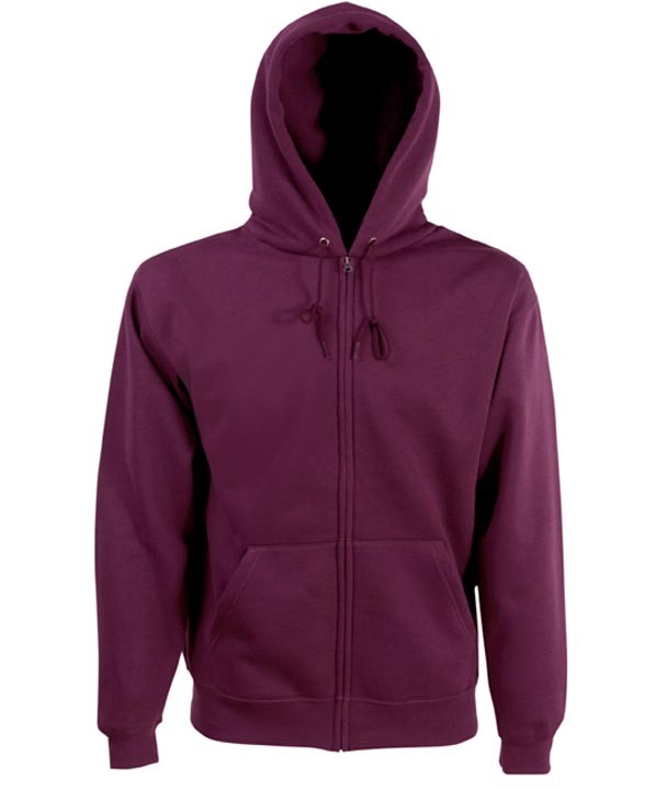 Fruit of the Loom Zip hoodie sweatshirt SC361C Burgundy