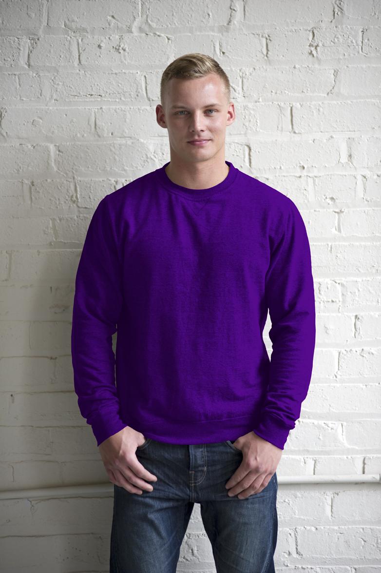 AWDis Heather Sweater JH040 Purple Heather