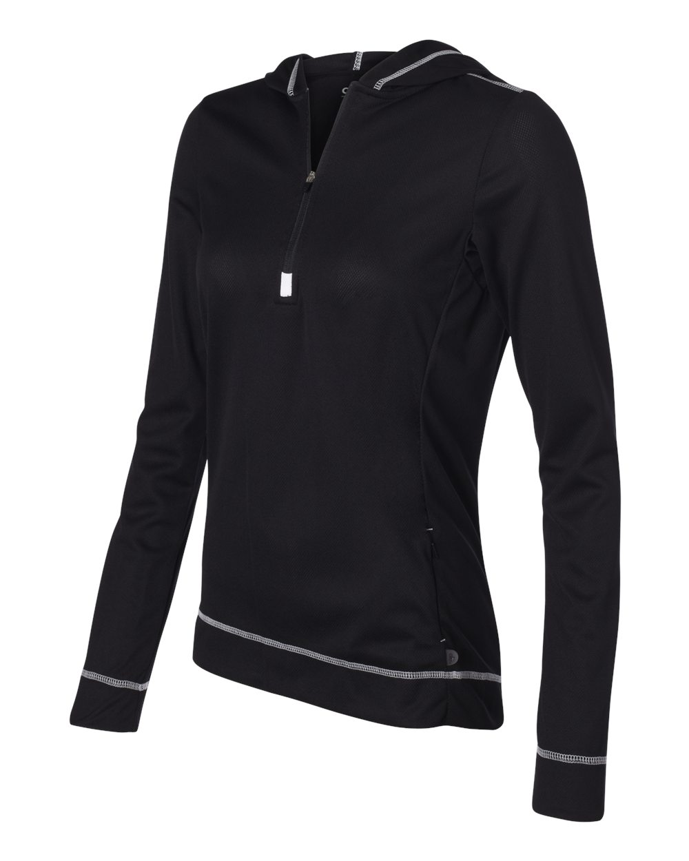 Alo Womens Performance Half Zip Hoodie W3002 Black - White
