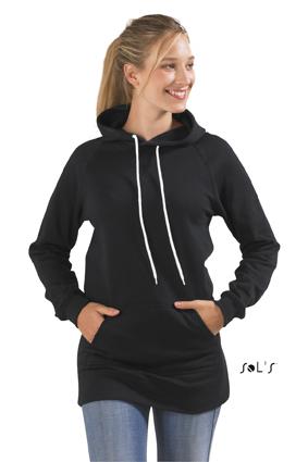Sols Street Longline Dames Hooded Sweater