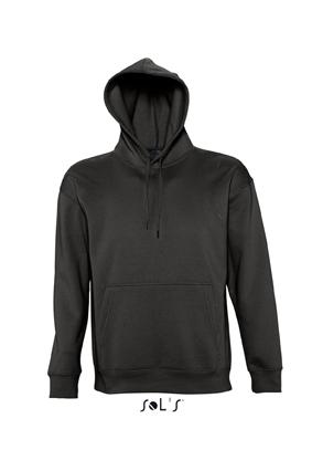 Sols Slam Unisex Hooded Sweater Black