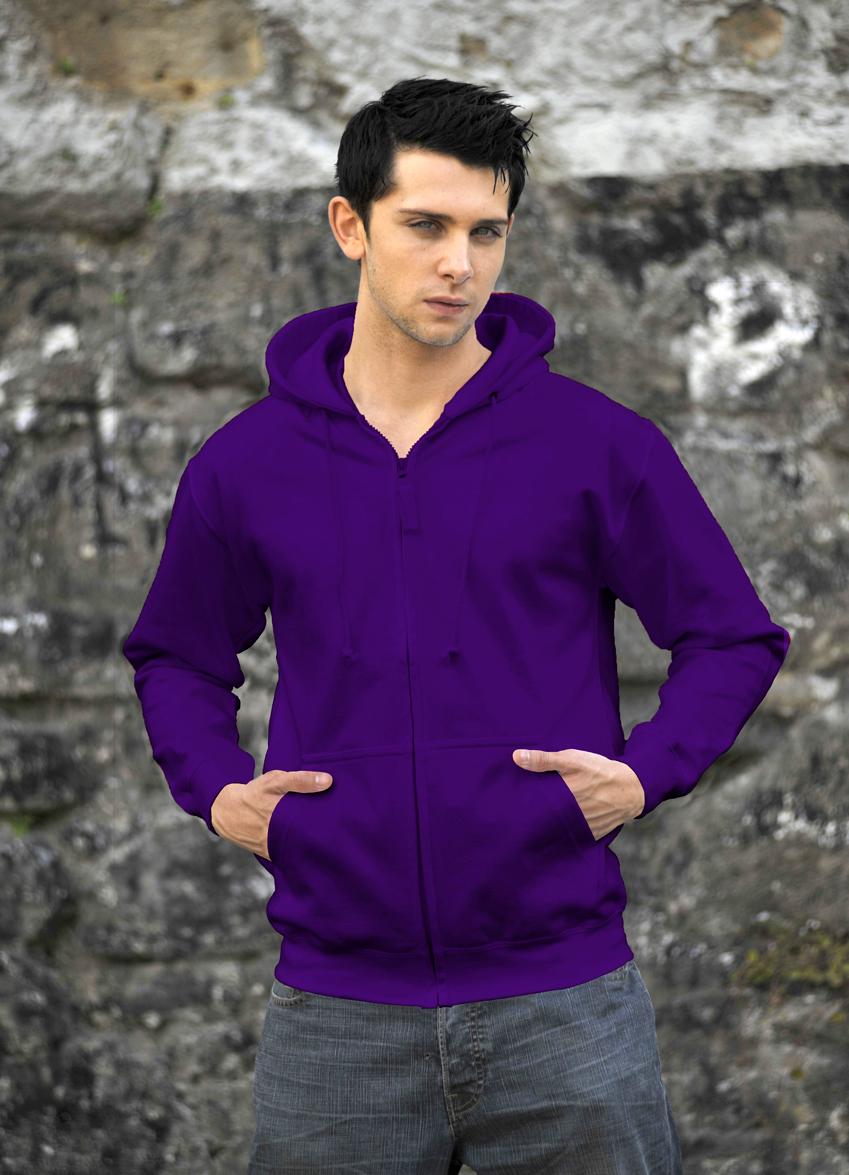 AWDis Zoodie JH050 hoodie Purple