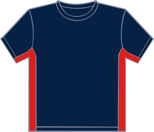 PA403 Navy - Red