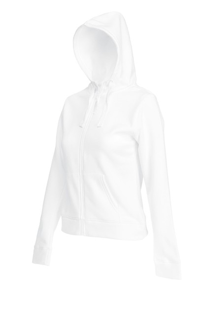 Fruit of the Loom Lady Fit Hooded Jacket SC62924 White