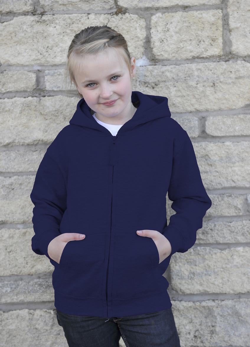 AWDis Kids Zoodie hoodie JH050J Oxford Navy