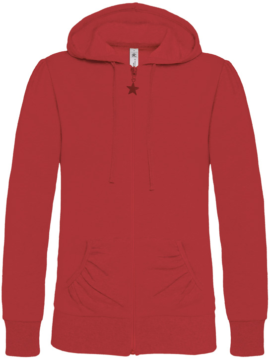 B&C Wonder Women Full Zip Hooded Sweater