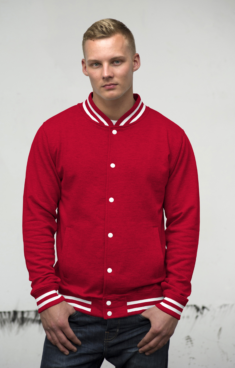 AWDis College Jacket JH041 Fire Red