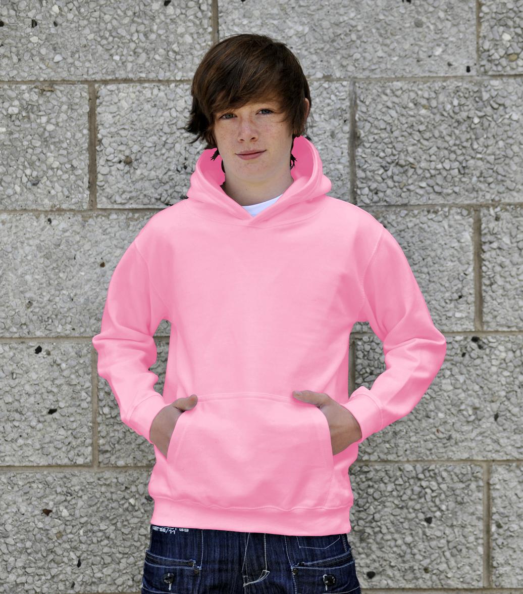 AWDis Kids College Hoodie JH01J Kind Hoodie Baby Pink