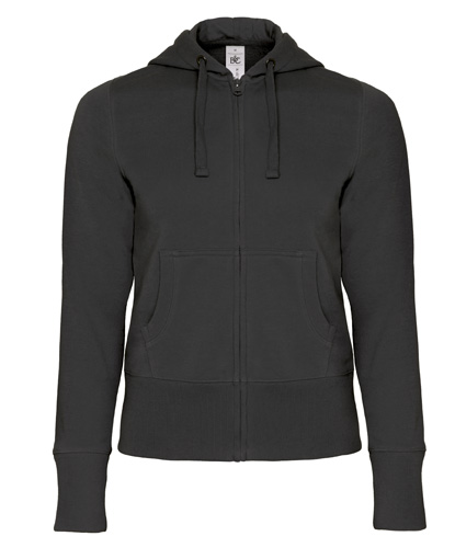B-C Hooded Full Zip Women Black