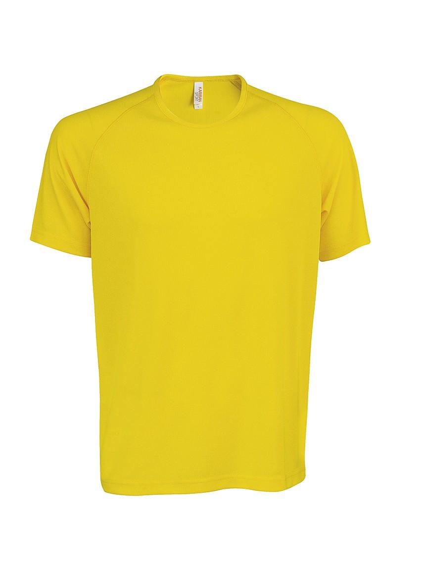 Heren Sport T-shirt KS017 True Yellow