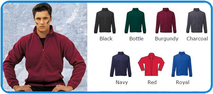 Full zip fleece vest met rits alle kleuren