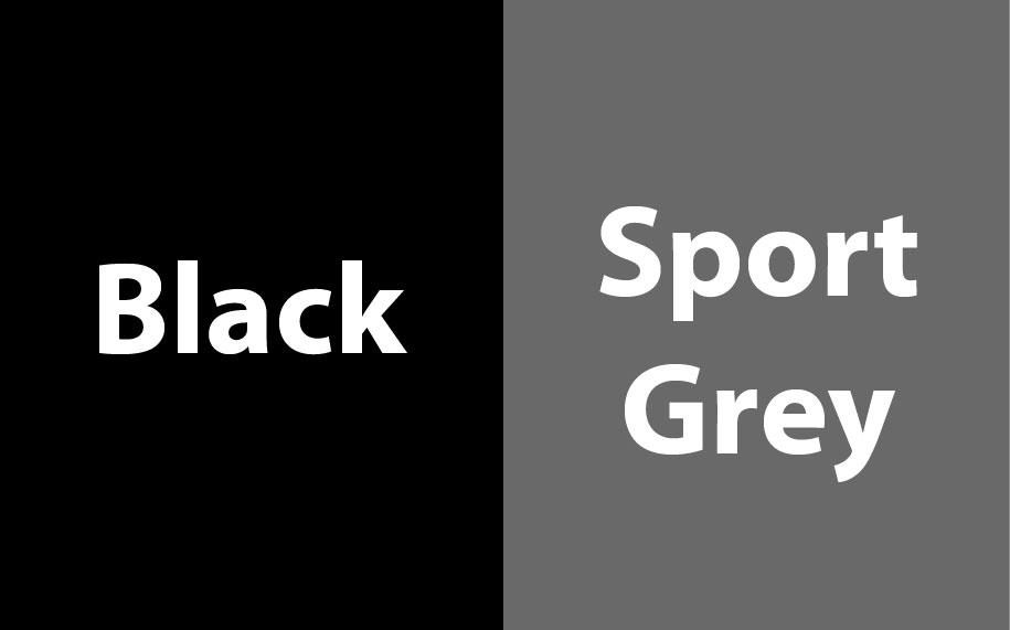 Gildan Heavy Blend Contrasted Hoodie GI185C00 Black - Sport Grey