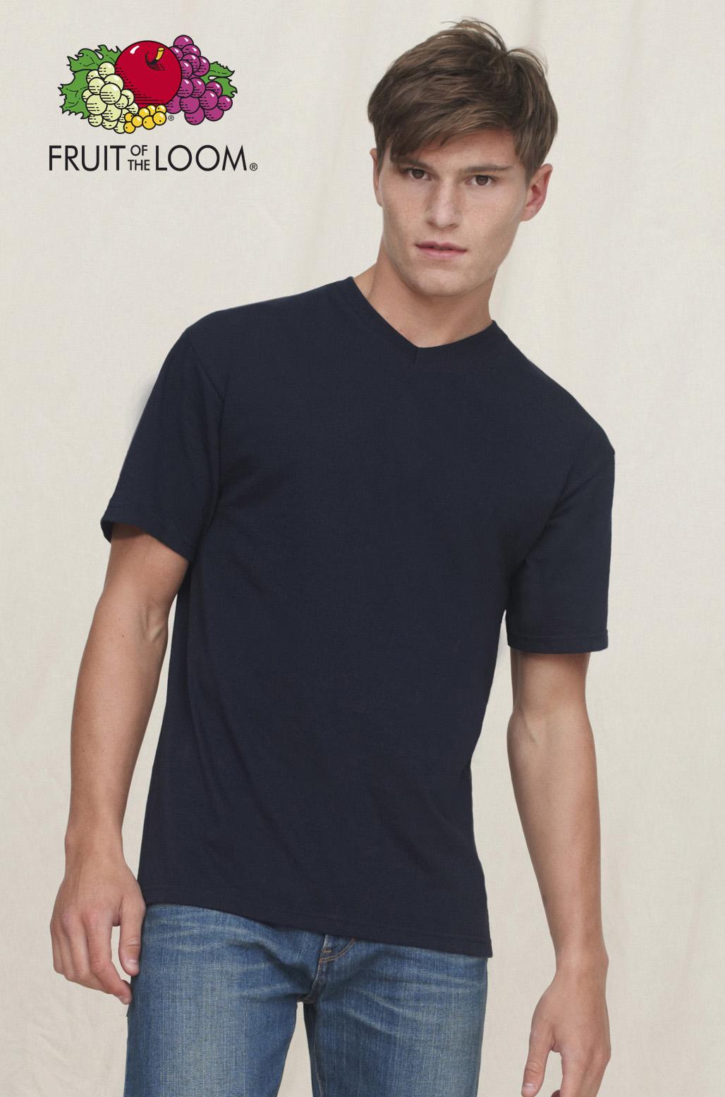 T-shirt met korte mouwen en V-neck
