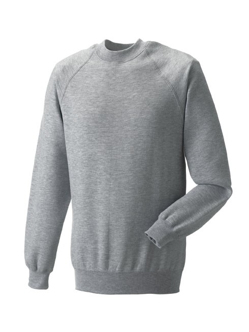 Russell Raglan Sleeve Sweater RU7620M Light Oxford