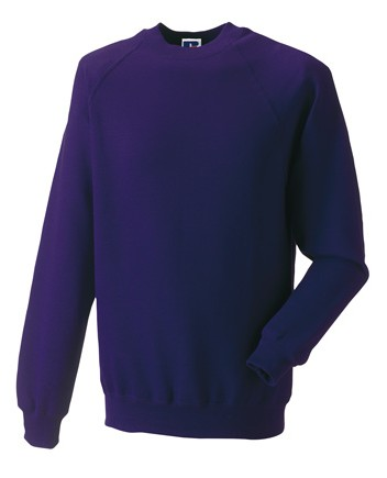 Russell Raglan Sleeve Sweater RU7620M Purple