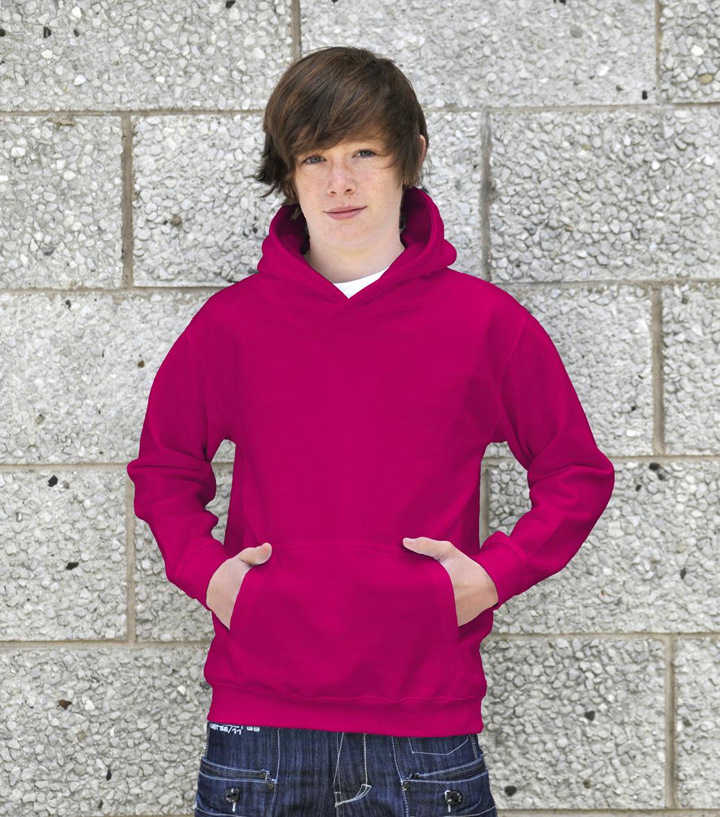 AWDis Kids College Hoodie JH01J Kinder Hoodie Hot Pink