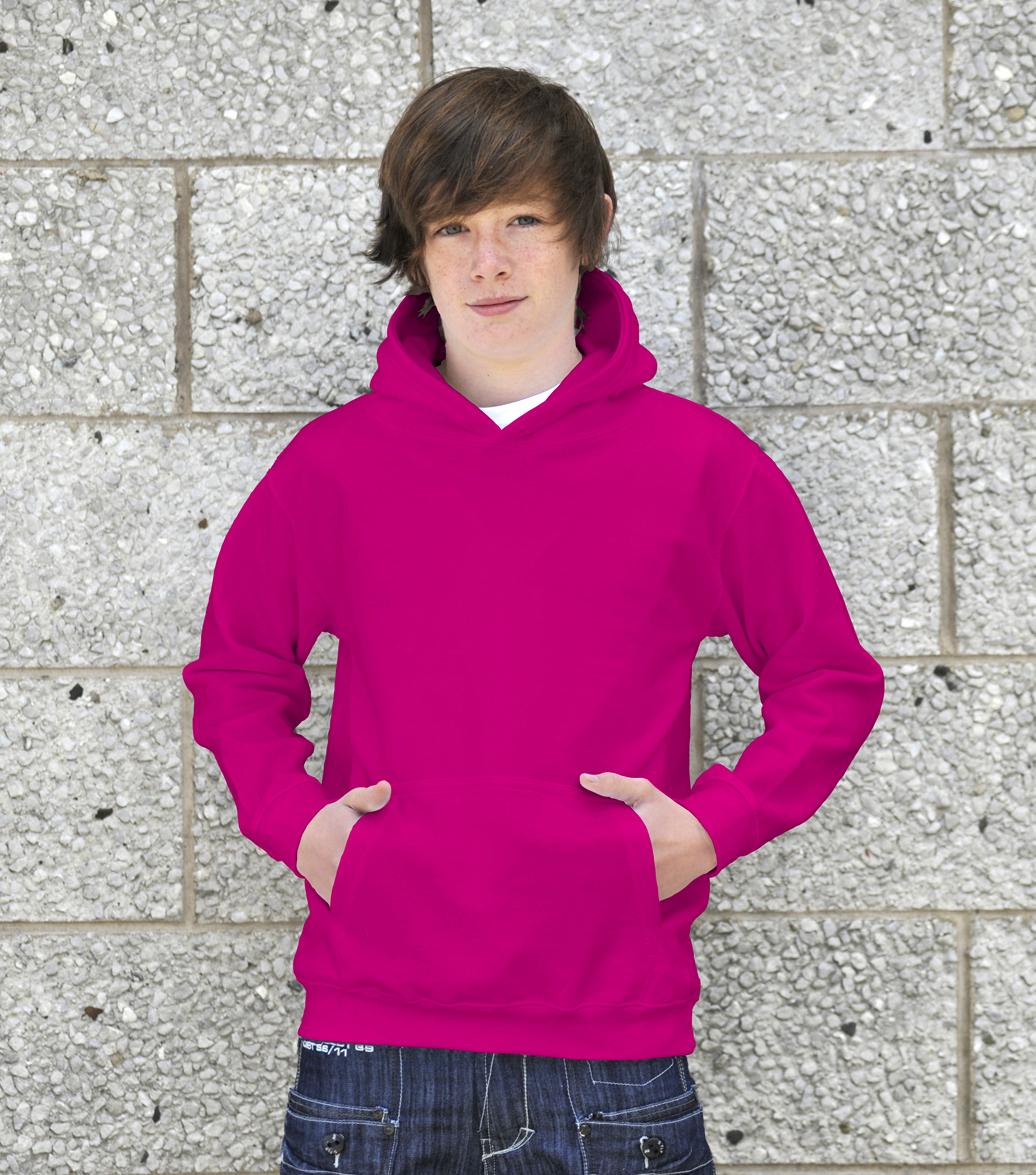 AWDis Kids College Hoodie JH01J Kinder Hoodie Candyfloss Pink