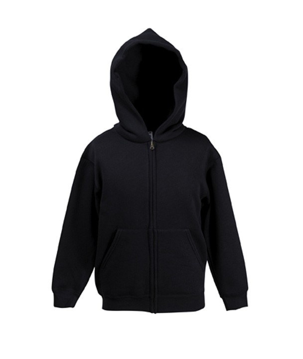 Fruit of the Loom Kids Zip Hoodie Sweater Black