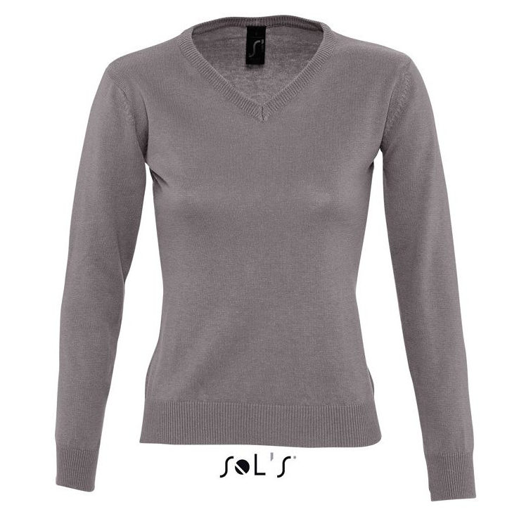 Sols Galaxy Woman V-hals Nette Sweater grey