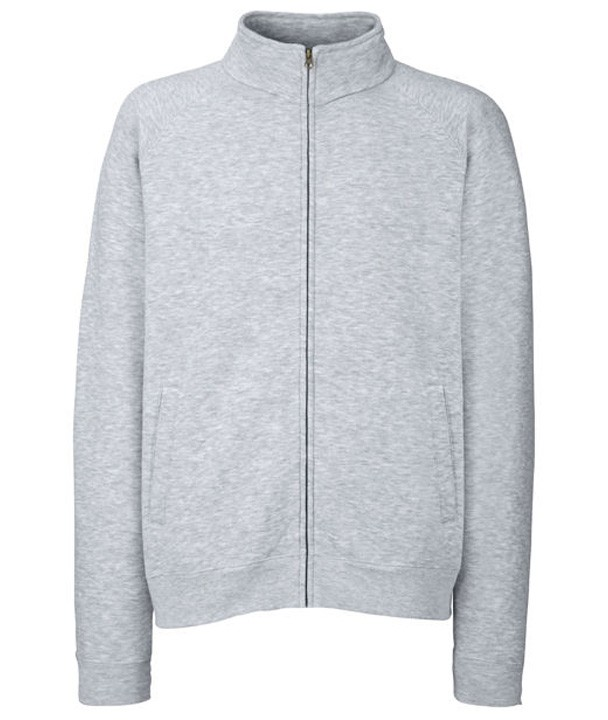 Fruit of the Loom Sweat Jacket Heather Grey