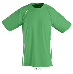 Sols Wembley Sportshirt Bright Green - White