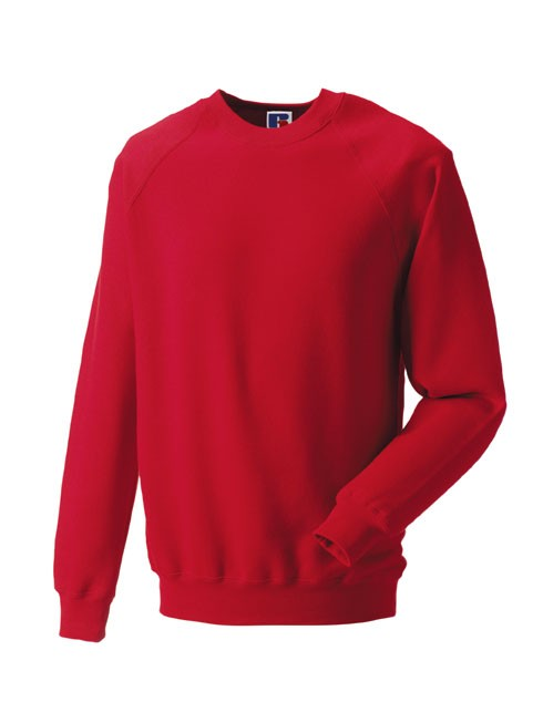 Russell Raglan Sleeve Sweater RU7620M Classic Red