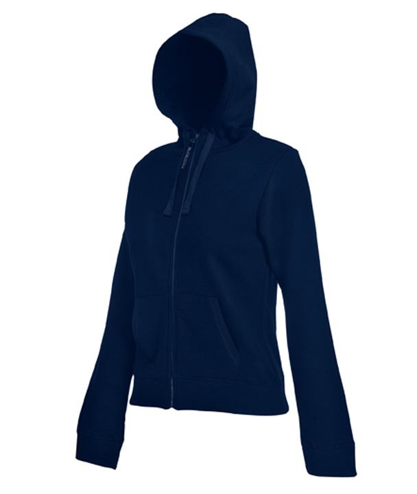 Fruit of the Loom Lady Fit Hooded Jacket SC62924 Deep Navy