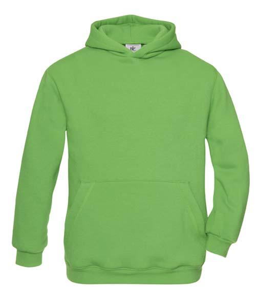 B-C Hooded Kids Sweat Real Green