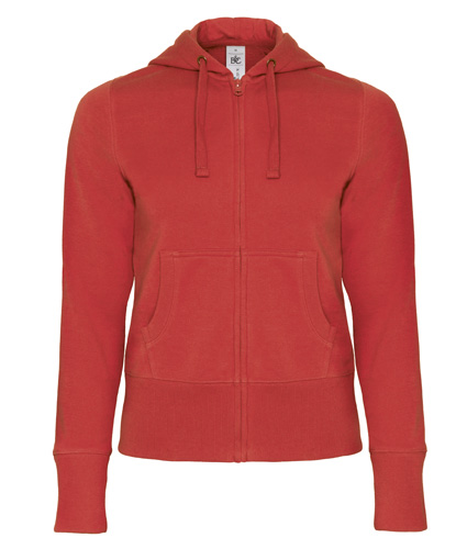 B-C Hooded Full Zip Women Red