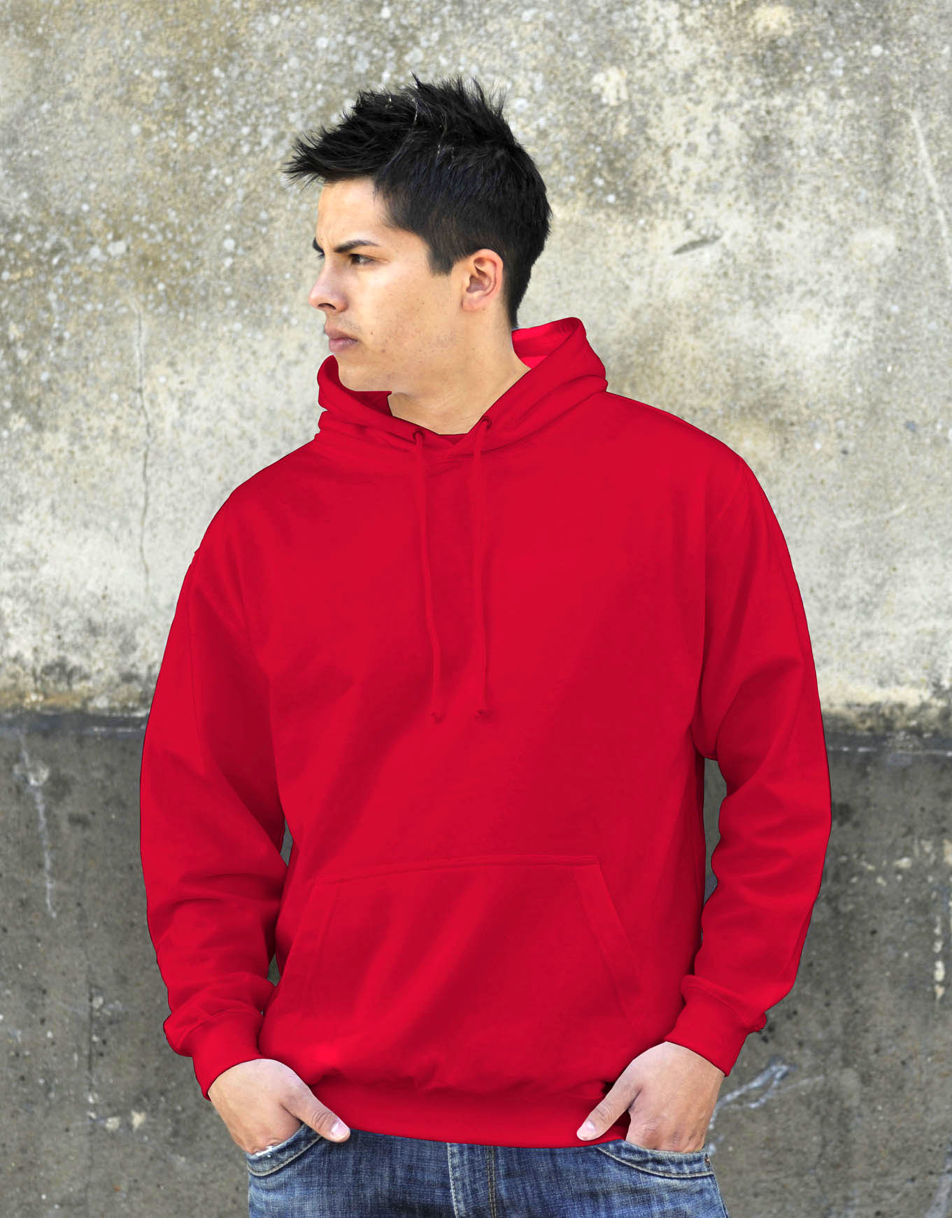 AWDis College Hoodie Fire Red