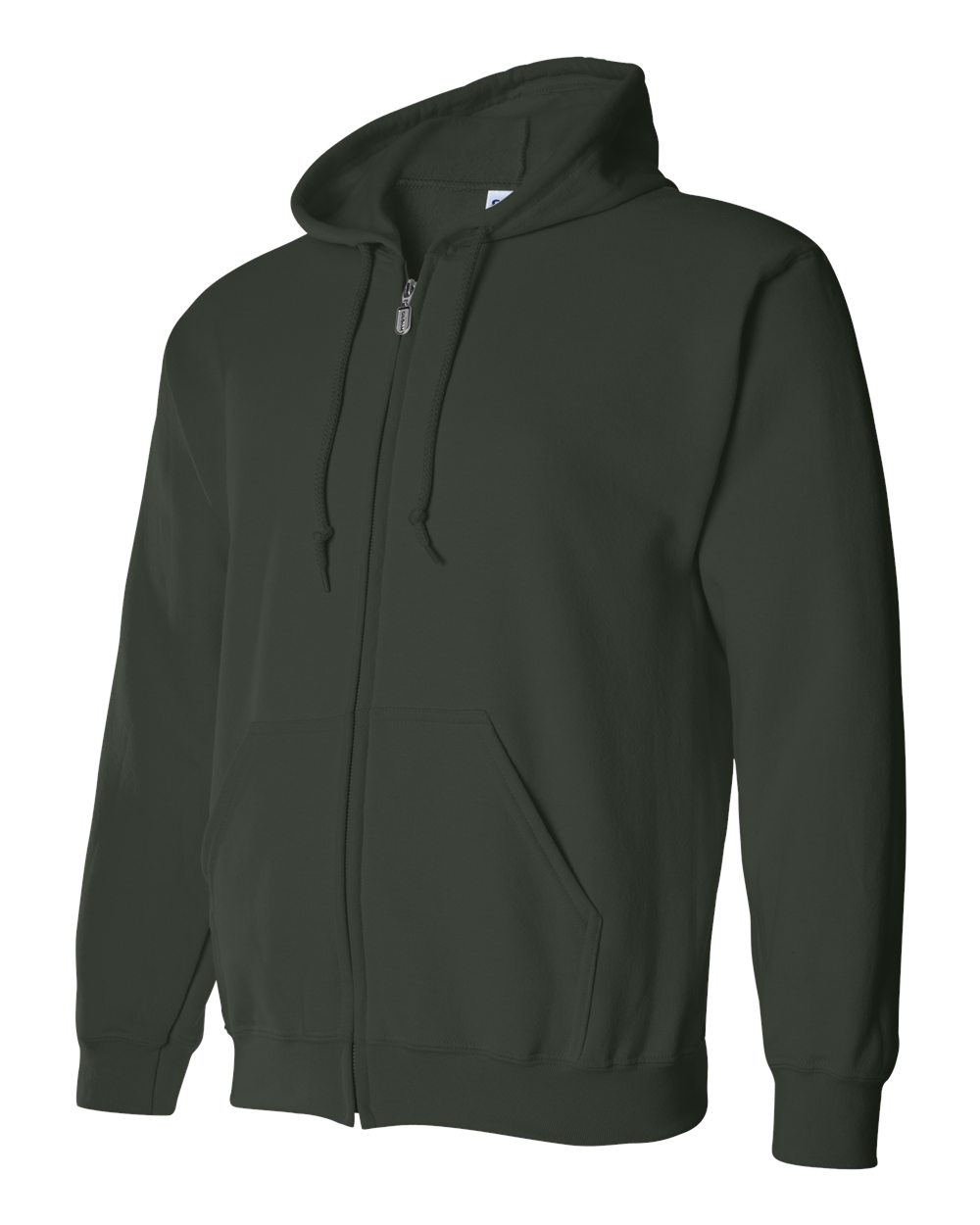 Gildan Heavy Blend Full Zip Hoodie GIL18600 Forest Green