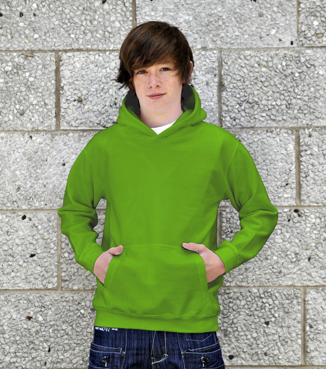 AWDis Kids College Hoodie JH01J Kinder Hoodie Lime Green