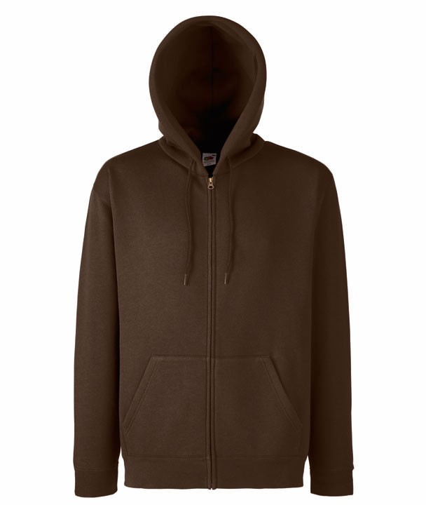 Fruit of the Loom Zip hoodie sweatshirt SC361C Chocolate