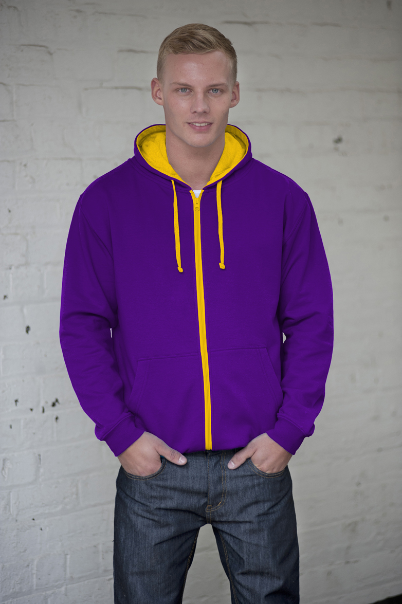 AWDis JH053 Purple - Sun Yellow