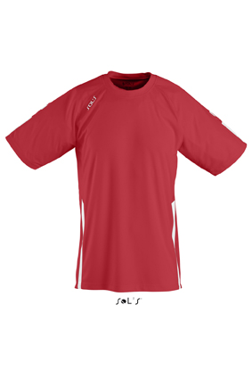 Sols Wembley Sportshirt Red - White