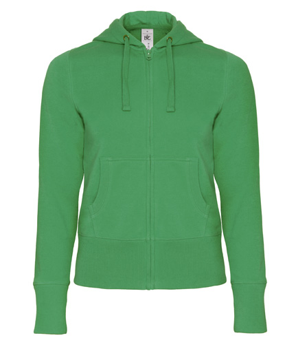 B-C Hooded Full Zip Women Kelly Green