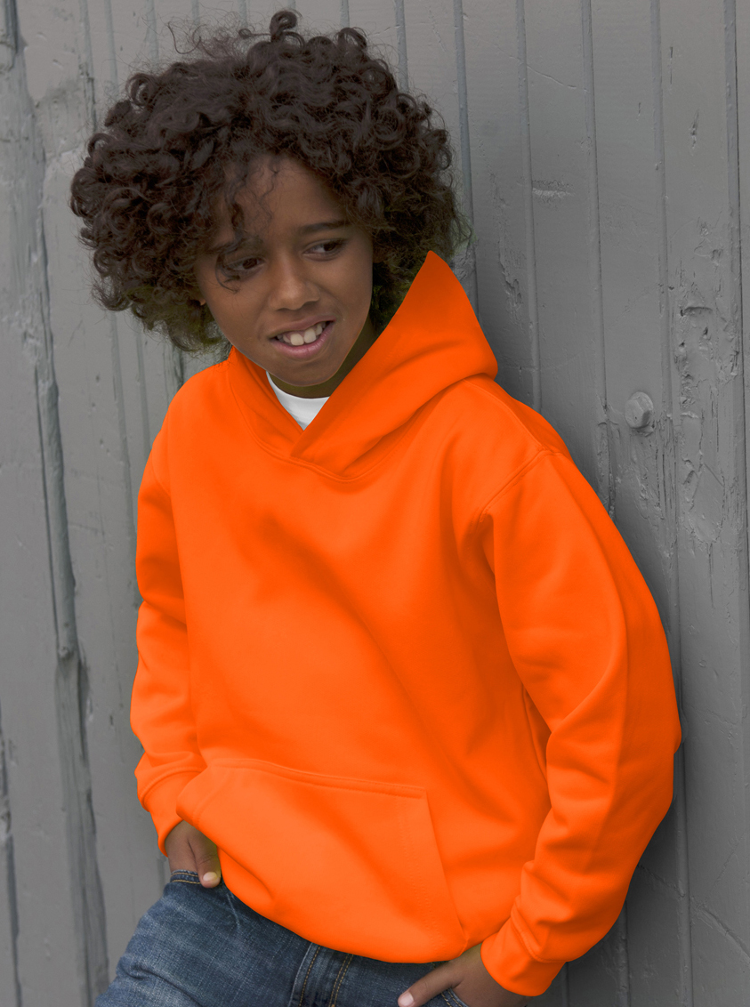 AWDis Kids Electric Hoodie JH04J Hoodie Kind Electric Orange