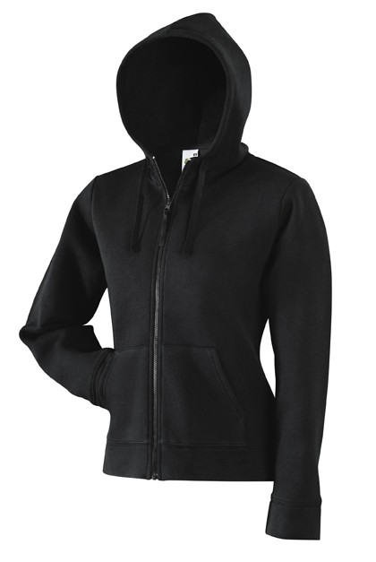 Fruit of the Loom Lady Fit Hooded Jacket SC62924 Black
