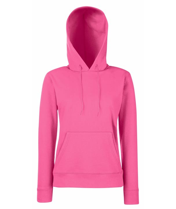Fruit of the Loom Lady Fit Hoodie 620380 Fuchsia