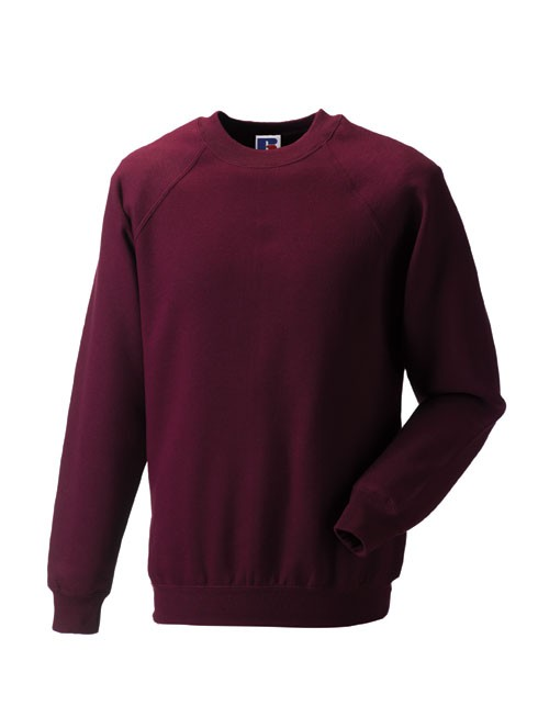 Russell Raglan Sleeve Sweater RU7620M Burgundy