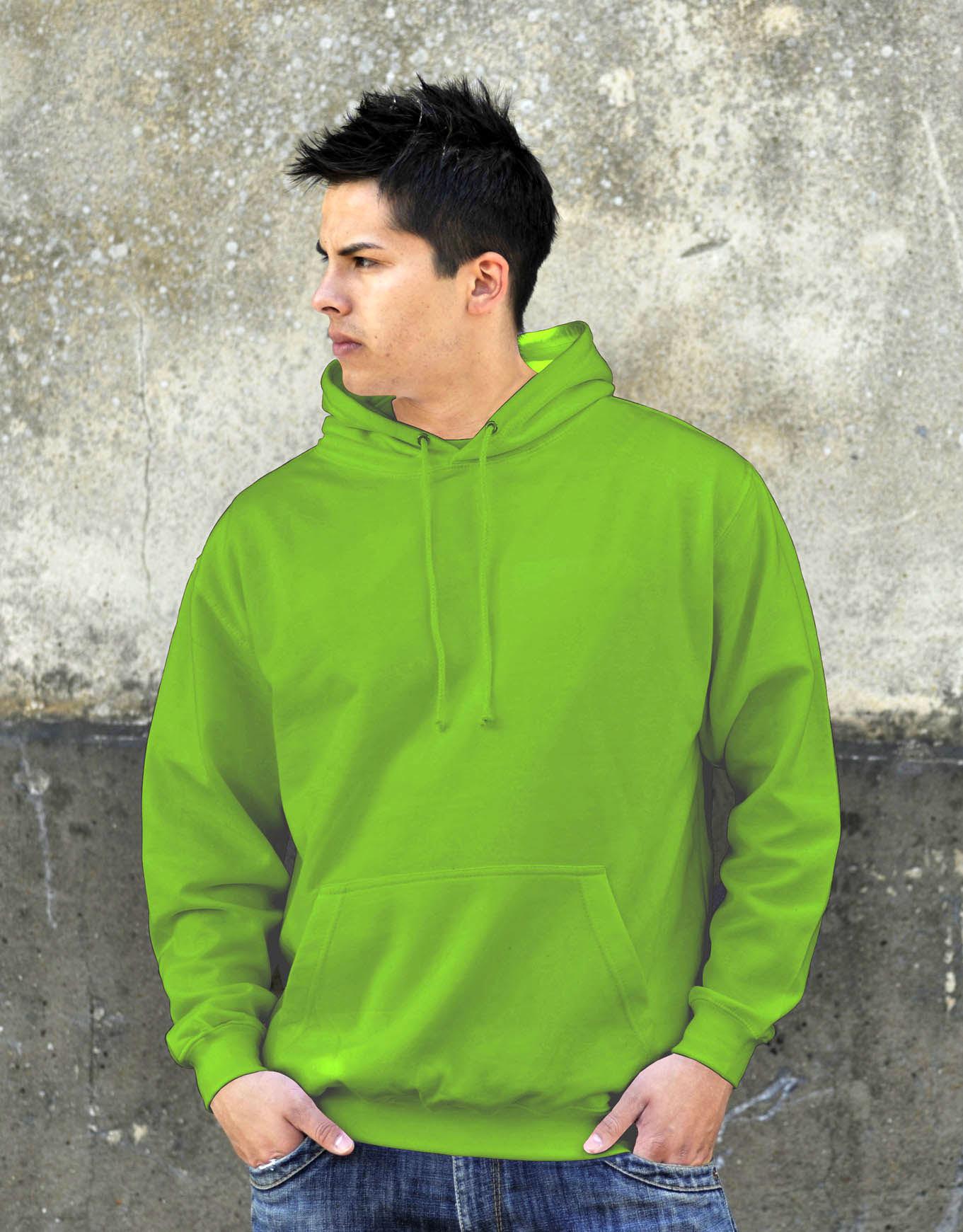 AWDis College Hoodie Lime Green