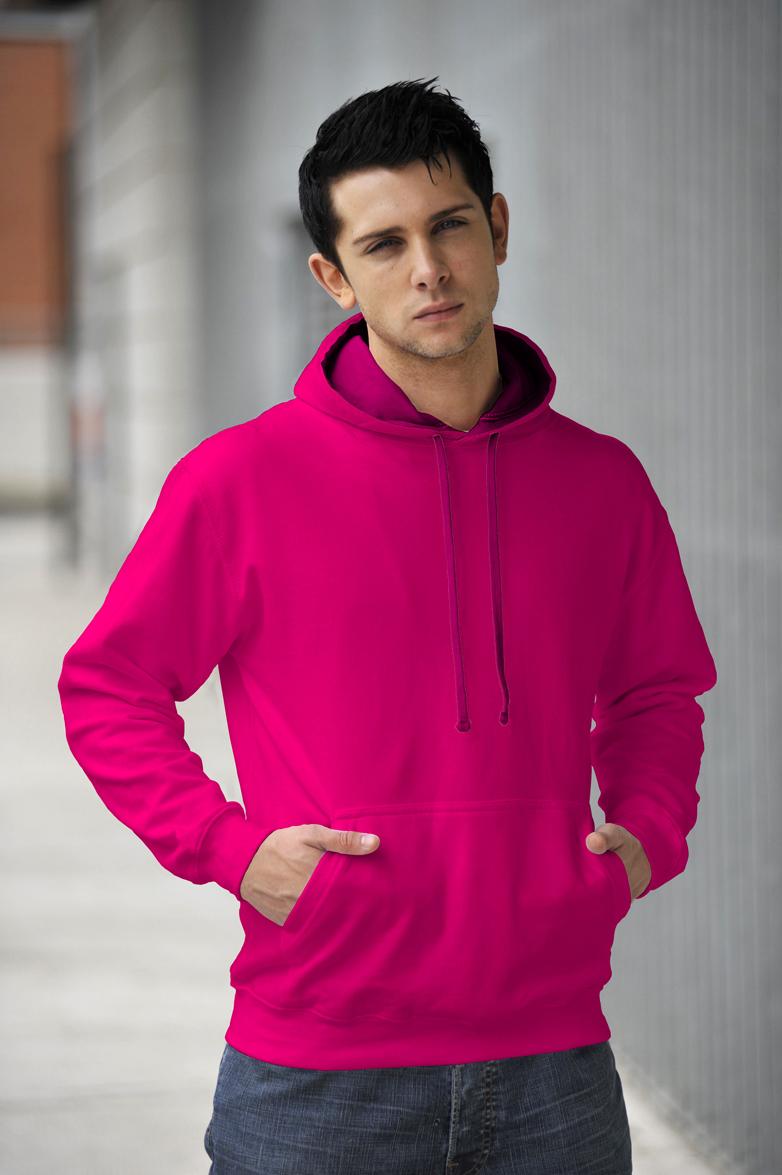 AWDis Varsity Hoodie Candyfloss Pink & Hot Pink