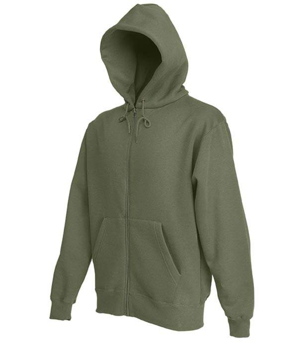 Fruit of the Loom Zip hoodie sweatshirt SC361C Classic Olive