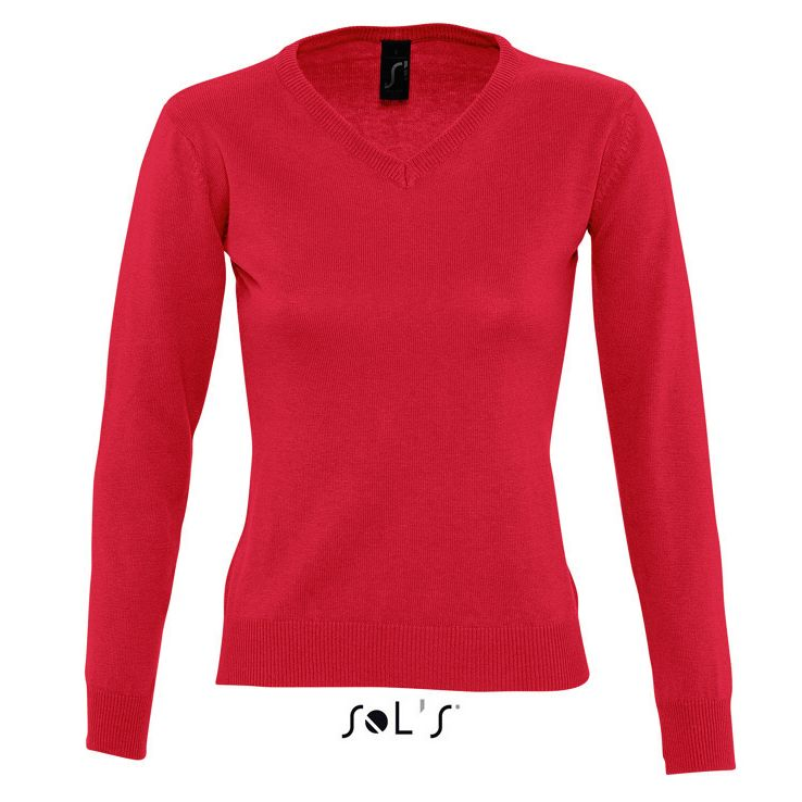 Sols Galaxy Woman V-hals Nette Sweater red