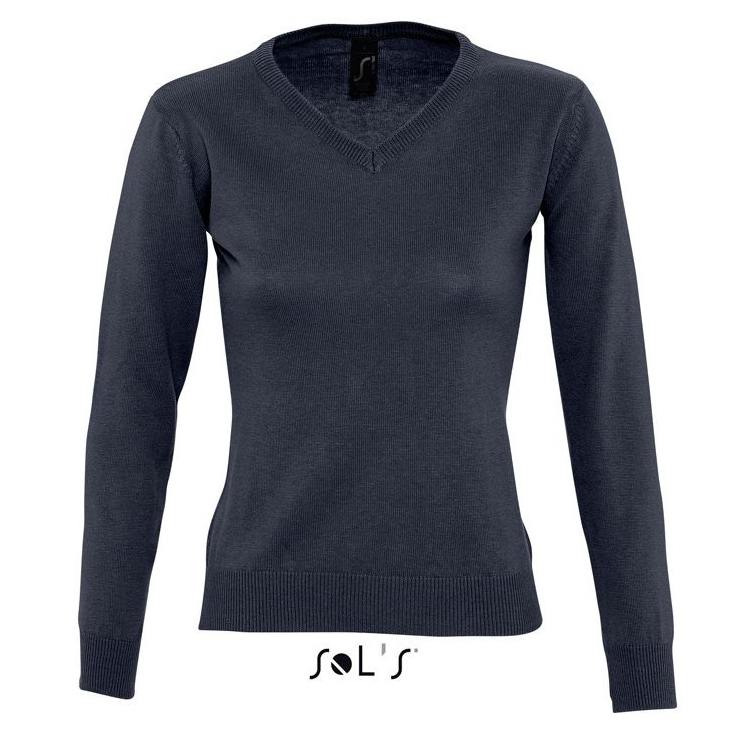 Sols Galaxy Woman V-hals Nette Sweater navy