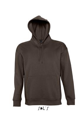 Sols Slam Unisex Hooded Sweater Chocolate